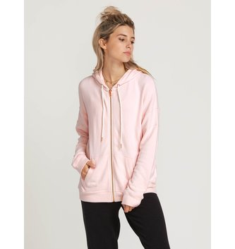 VOLCOM Lived In Lounge Zip Hoodie - Blush Pink
