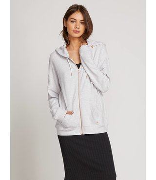Lived In Lounge Zip Hoodie - Light Grey