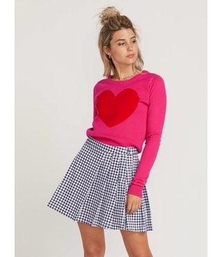 GMJ Heart Sweater - Electric Pink