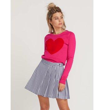 VOLCOM GMJ Heart Sweater - Electric Pink