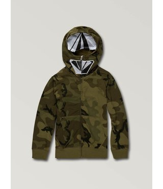 Little Boys Cool Stone Full Zip Hoodie - Camouflage