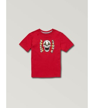 Little Boys Stone Eyes Short Sleeve Tee - True Red
