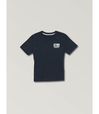 Little Boys Volcom Is Good Short Sleeve Tee - Navy