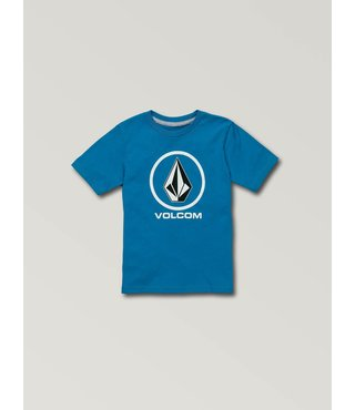 Little Boys Crisp Stone Short Sleeve Tee - Bright Blue