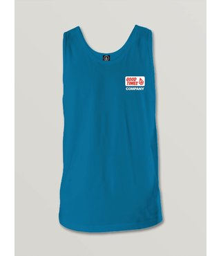 Big Boys Volcom Is Fun Tank - Bright Blue