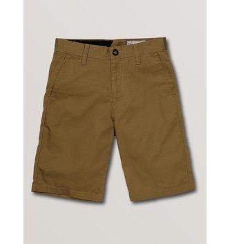VOLCOM Big Boys Frickin Chino Shorts - Dark Khaki