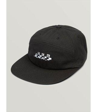 Broken Check Hat - Black