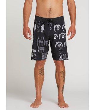 Tablet Mod Board Shorts - Black/White