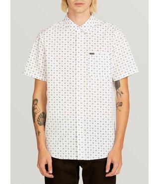 Salt Dot Short Sleeve Shirt - White