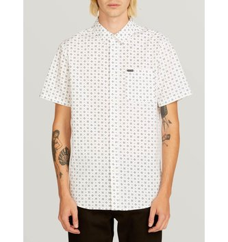 VOLCOM Salt Dot Short Sleeve Shirt - White