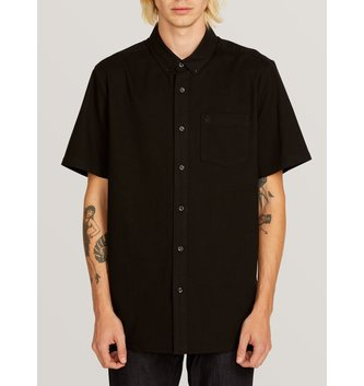VOLCOM Everett Oxford Short Sleeve Shirt - New Black