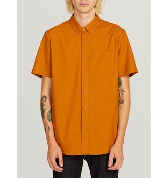 VOLCOM Everett Oxford Short Sleeve Shirt - Camel