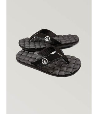 Big Boys Recliner Sandals - Black White