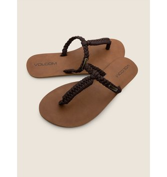 VOLCOM Fishtail Sandals - Brown