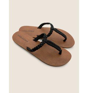 VOLCOM Fishtail Sandals - Black