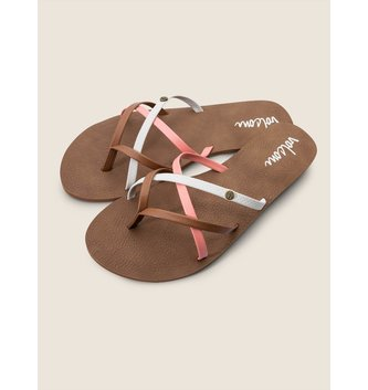 VOLCOM New School Sandals - Coral
