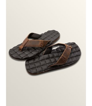 Recliner Leather Sandals - Vintage Brown