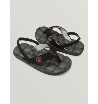 VOLCOM Little Boys Recliner Sandals - Graphite