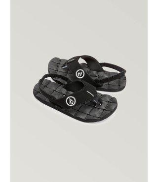 Little Boys Recliner Sandals - Black White