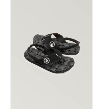 VOLCOM Little Boys Recliner Sandals - Black White