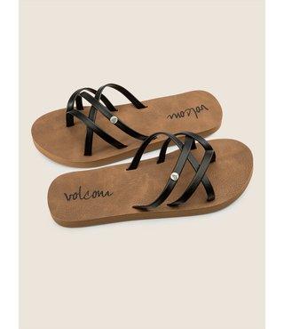 Girls New School Sandals - Black