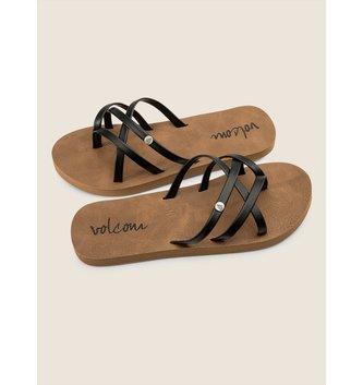 VOLCOM Girls New School Sandals - Black