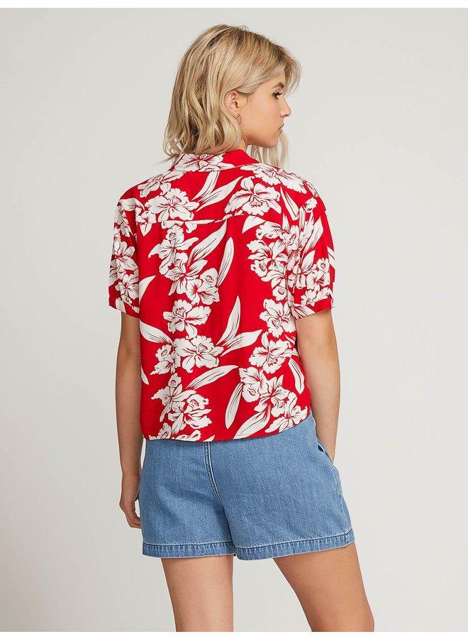 Aloha Ha Short Sleeve Shirt - Red