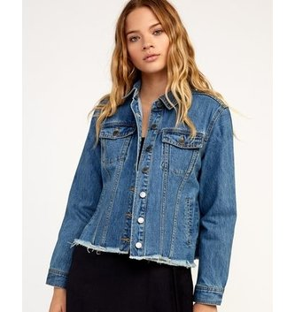 RVCA Pause It Denim Jacket - Medium Blue