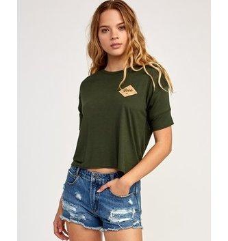 RVCA Postmark Drape T-Shirt - Forest