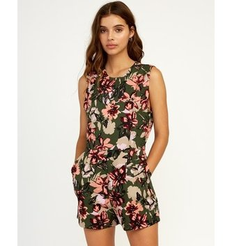RVCA Tucked in Printed Romper - Forest