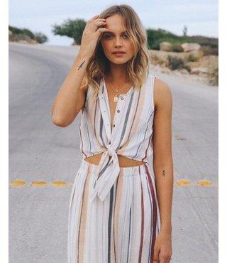 Arizona Woven Midi Dress - Whisper White