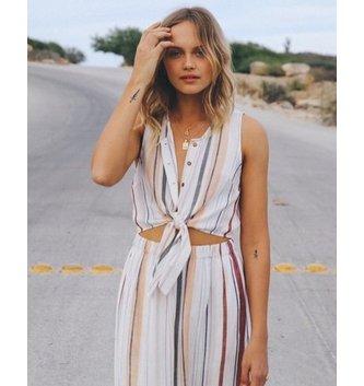 RVCA Arizona Woven Midi Dress - Whisper White