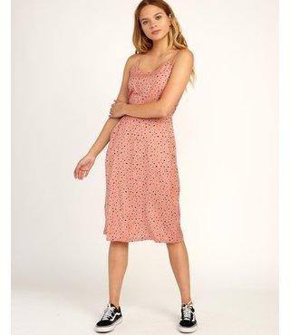 Cece Woven Midi Dress - Cameo Brown
