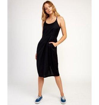 RVCA Cece Woven Midi Dress - Black