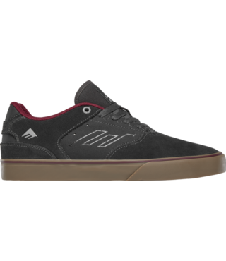 Reynolds Low Vulc Skate Shoes - Dark Grey/Grey/Red
