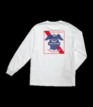 LMC x PBR Established II Long Sleeve Tee - White