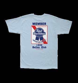 LOSER MACHINE LMC x PBR Members Only Stock Tee - Powder Blue
