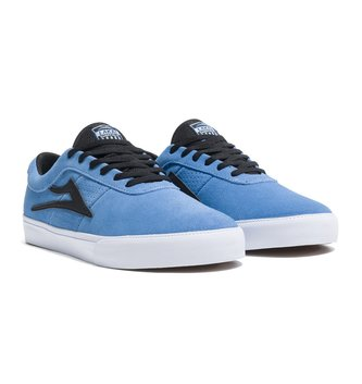 LAKAI FOOTWEAR Sheffield Simon Skate Shoes - Light Blue/Black Suede