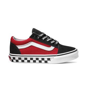 VANS FOOTWEAR Kids Logo Pop Old Skool Skate Shoes - Black/True White