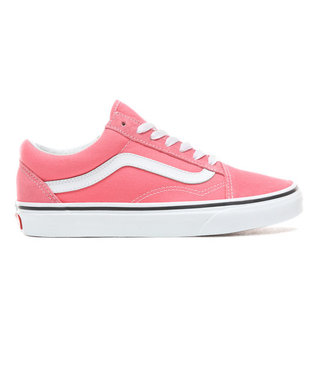 Old Skool Skate Shoes - Strawberry Pink/True White
