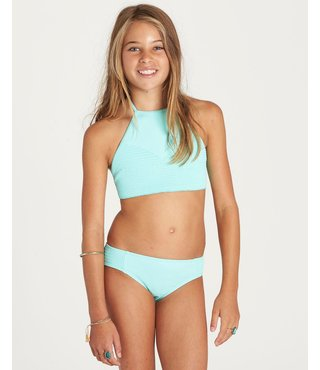 Girls' Sol Searcher High Neck Bikini Set - Seagreen