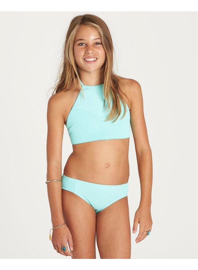 Girls' Sol Searcher High Neck Bikini Set - Seagreen