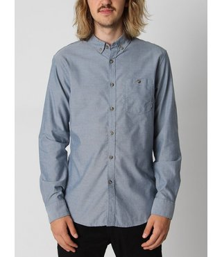 All Day Long Sleeve Button Up Shirt - Blue