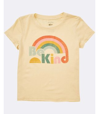 Girls' Kind Rainbow Tee - Yellow Fade