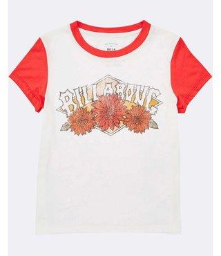 Girls' Wild Bloom Tee - Sunset Red