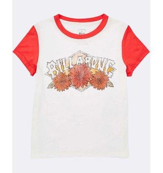 BILLABONG Girls' Wild Bloom Tee - Sunset Red
