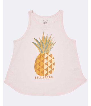 Girls' Sunny Pineapple Tank Top - Pink Lily
