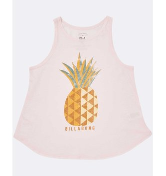 BILLABONG Girls' Sunny Pineapple Tank Top - Pink Lily