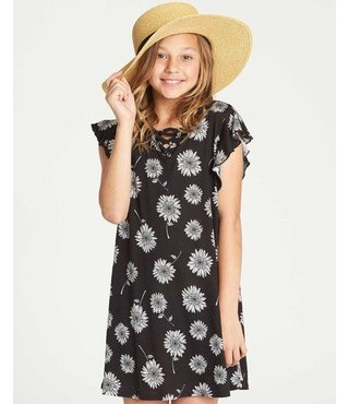 Girls' Dreamin Daiseys Dress  - Black
