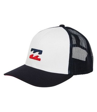 Boys' All Day Trucker Hat - White/Navy